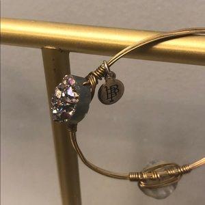 Bourbon and Bowties purple agate bracelet